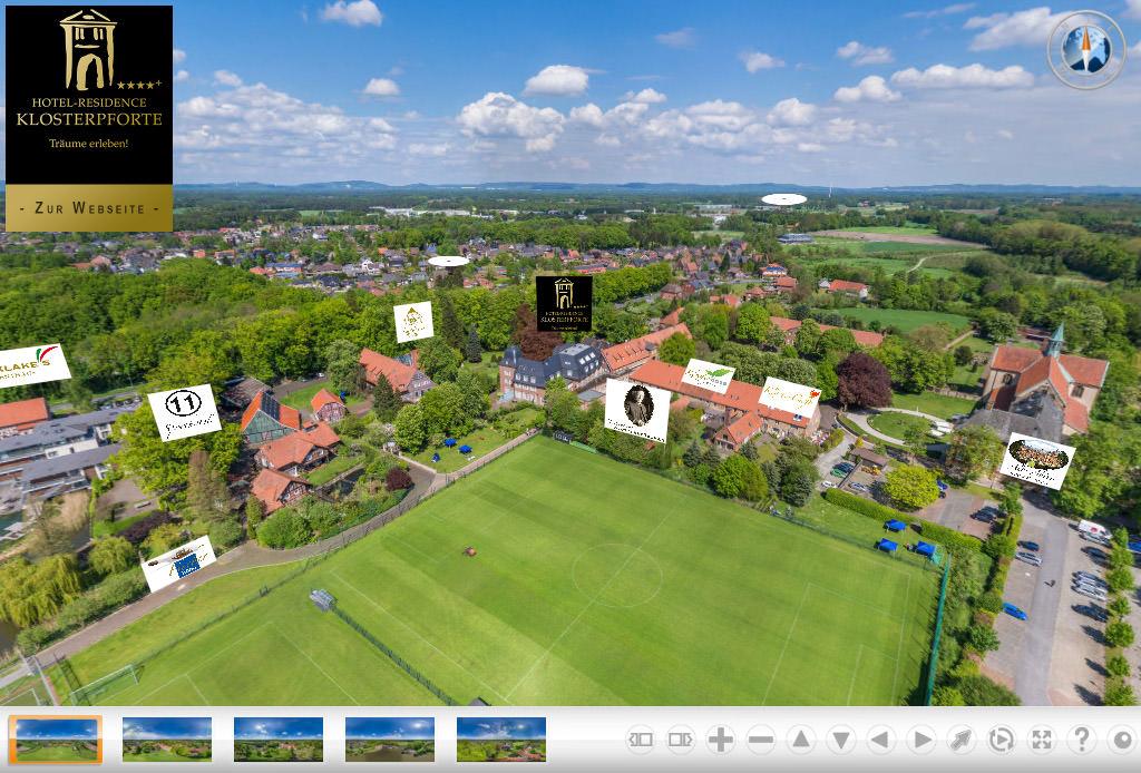Virtueller Rundgang vom Areal Hotel-Residence Klosterpforte